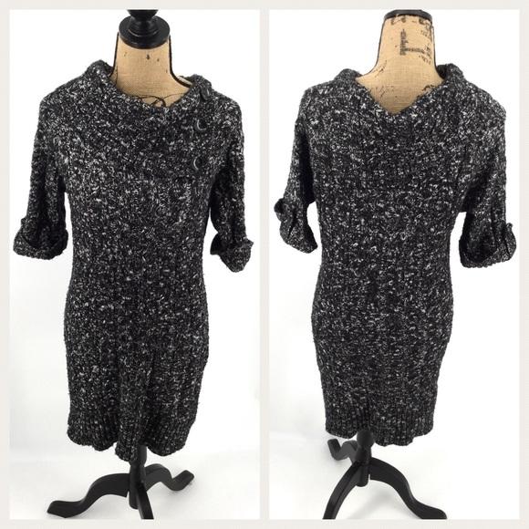 cd0cf850f8 Cato Sweaters - CATO Cowl Neck Sweater Dress Tunic Black White L